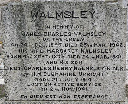 1942 – James Walmsley Dies